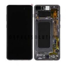 Samsung S10  OLED and Touch Screen Assembly with frame [Black]